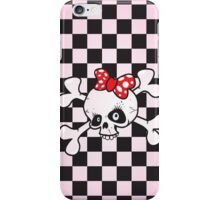 girl power skull iPhone Case/Skin