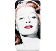 Rita Hayworth Large Size Portrait iPhone Case/Skin