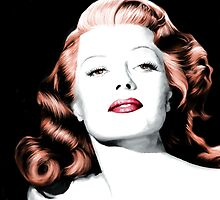 Rita Hayworth Large Size Portrait by Gabriel T Toro