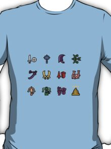 Monster Hunter Weapon Icons T-Shirt