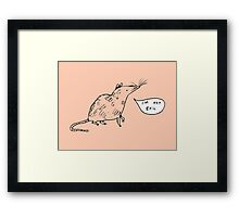 Rats Aren't Evil Framed Print