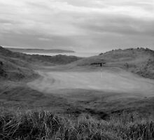 grey Ballybunion links golf course by morrbyte