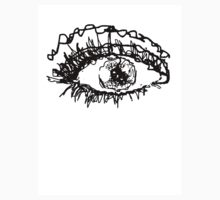 Black And White Scribble Eye Ball by Kelsey Wilson