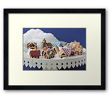 Who Needs a Cake When You Can Get Tiny Houses? Framed Print