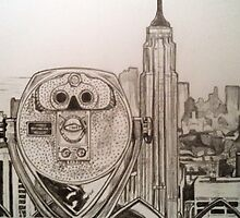 New York Cityscape drawing by RobCrandall