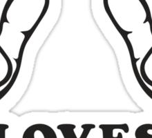 This Girl Loves Her Dog, Black Ink | Women's Dog Lover T Shirt, Sweatshirt Sticker