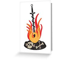 Link the Flames (Dark Souls) (Dark Souls 2) Greeting Card