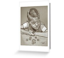 Marbles drawing Greeting Card