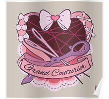 Grand Couturier Emblem - Light BG Poster