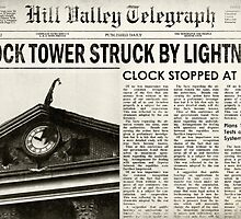 Hill Valley Telegraph - Back to the Future by familiaritees