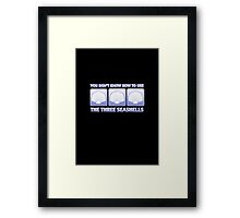 The Three Seashells Framed Print