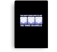 The Three Seashells Canvas Print