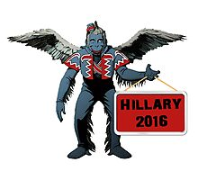 Hillary Clinton 2016 Spoof for President Flying  Monkey Funny Shirt, Sticker, Poster, Cases, Totes Photographic Print