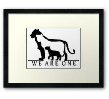 Lion Family (white version) Framed Print