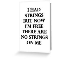 I Had Strings (Avengers 2) Greeting Card
