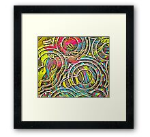 Eight to the Left - Circles to the Right Framed Print