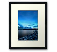 Late Picnic on an Indigo Night Framed Print