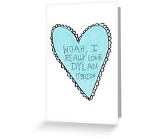 dylan o'brien heart Greeting Card