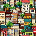 Favela seamless pattern by Richard Laschon