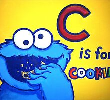 C is for Cookie Monster by wimpy