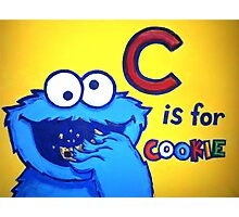 C is for Cookie Monster Photographic Print