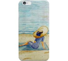 Young girl and sea III iPhone Case/Skin