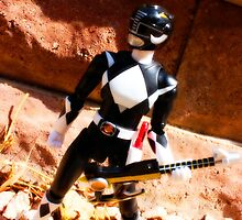 Black Mighty Morphin Power Ranger by mykl55