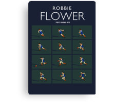 Robbie Flower, Melbourne (dark shirt) Canvas Print