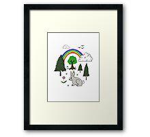 Cute Nature Scene Framed Print