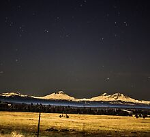 Night Over the Cascades by Richard Bozarth