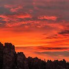 Forest Fire Sunset/Smith Rock by Richard Bozarth