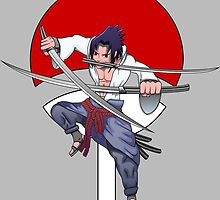 Sasuke Three Swords Style by djegghedd