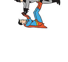 Batman And Superman Playing by Uheq