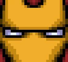 Iron Man Pixel Zoom by bowksmon