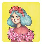 Adorned - Girl with Floral Crown by Emma Hampton