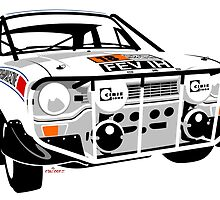 Ford Escort mk 1 Mexico Rally winner by car2oonz