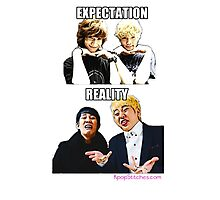 Aegyo VS Derp (Expectation vs Reality) Photographic Print
