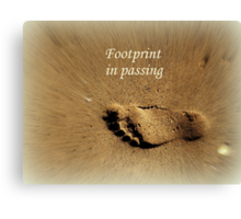 Footprint in Passing Canvas Print