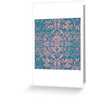 Great Barrier Reef ( pink ) coral pattern Greeting Card