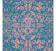 Great Barrier Reef ( pink ) coral pattern Photographic Print
