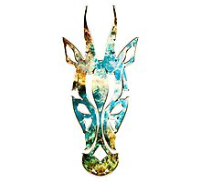 Antelope, Africa, Space, Cosmos, Galaxy, Universe Photographic Print