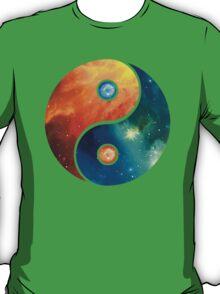 Yin Yang, Space, Cosmos, Galaxy, Universe, Outerspace T-Shirt