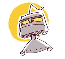 Grumpy Robot by Clinko