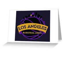 Los Angeles Basketball Association Greeting Card