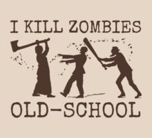 Funny Retro Old School Zombie Killer Hunter 2 by emkayhess