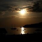 Sun Going Down At Olu Deniz Turkey by lynn carter