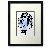 Zombie Head Framed Print