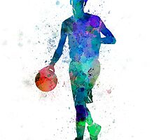 young man basketball player dribbling  by paulrommer