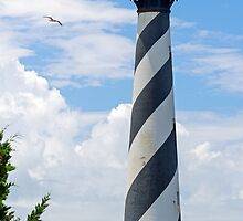 Lighthouse on Cape Hatteras by Kenneth Keifer