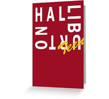Halliburton Teen Block Greeting Card